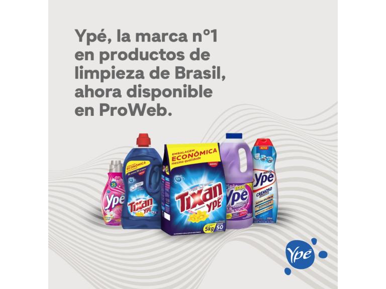 Ypé, la marca más vendida en productos de limpieza de Brasil, disponible en Proweb.