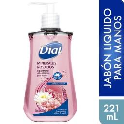 Jabon Liquido Manos Antibacterial Hidratante Dial Minerales Rosados