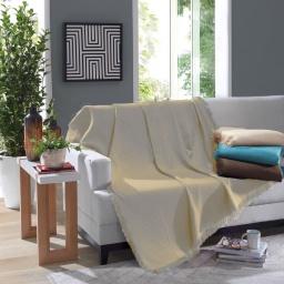 Manta Para Sillón Y Cama Throw 120x150 Dohler 100% Algodón Azul