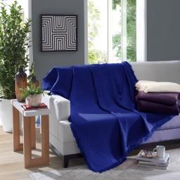 Manta Para Sillón Dohler 100% Algodón 120x150 Azul Marino