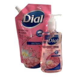 Jabon Liquido Dial Antibacterial M. Rosados Repuesto 671ml