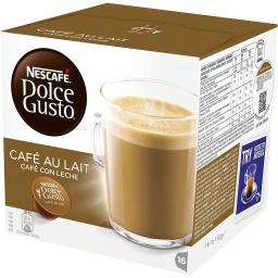 Capsula Dolce Gusto Café con Leche Rinde 16 cafés por Caja