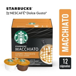Cápsulas Starbucks Dolce Gusto Caramel Macchiato Sin Gluten
