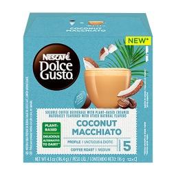 Capsulas Dolce Gusto Coco Macchiato Coconut Vegano x 12