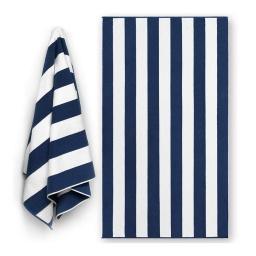 Toalla de Playa Dohler 100% algodón 90x180 Azul y Blanca