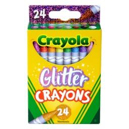 24 Crayones con Brillantina No Toxicas Crayola Con Glitter