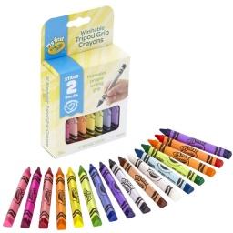 Mis primeras Crayolas No toxicas Triangulares Para + Agarre