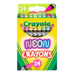 Crayolas Neon Fuertes y Brillantes x 24 No Toxicas Seguras
