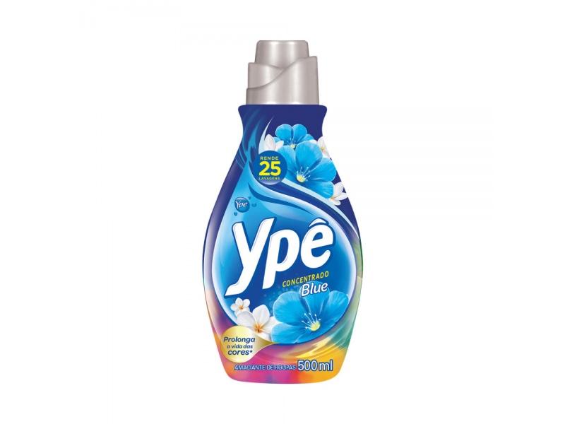 Suavizante Concentrado Ype 500ml Rinde 25 Lavados Blue