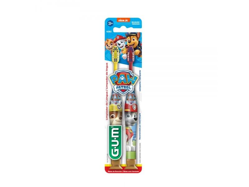 Cepillo De Dientes Suave Paw Patrol Gum 3+ Años X2 Unidades