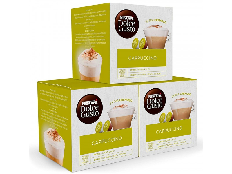 Promo Pack 3x2 Nescafe Dolce Gusto 3 Cajas X 16 Cappuccino